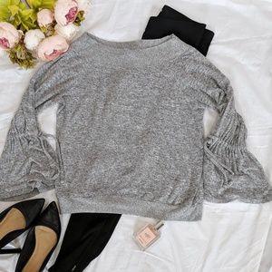Express One Eleven Gray Sweatshirt, Size M